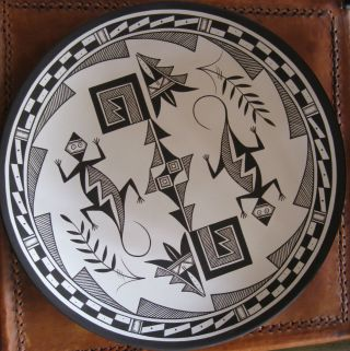 Native American Lizard Plate By Westly Begay photo