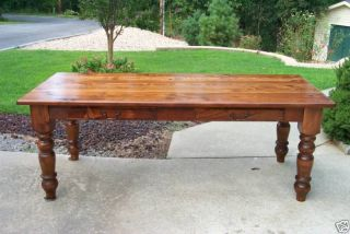 Rustic Antique Heart Pine Harvest Table / Office Desk / Dining Table photo