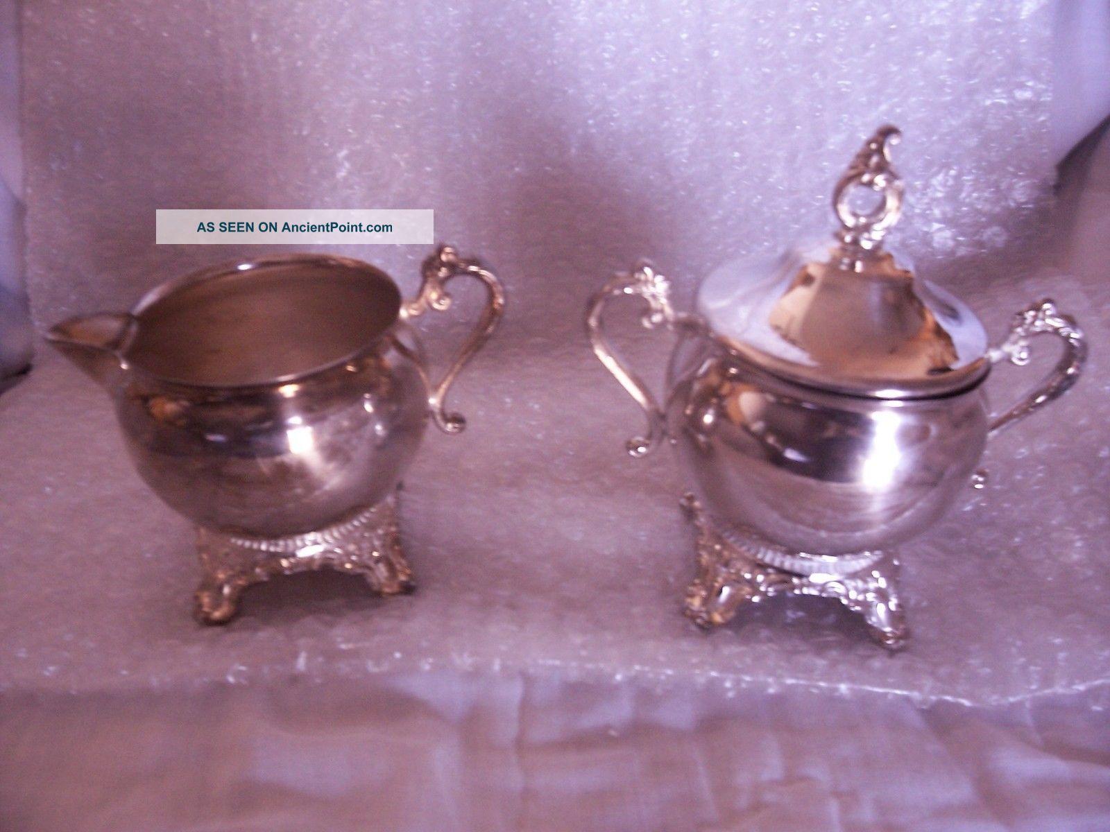 Gorham Newport Silver Plate Sugar Bowl & Creamer Antique Ex++ Condition Look - C Creamers & Sugar Bowls photo