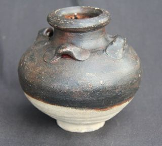 A Song Black Glaze Jar With Four Lugs photo