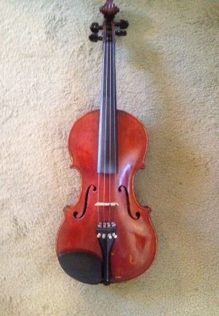 Italian Violin With Alligator Case And Nurmberger Bow photo