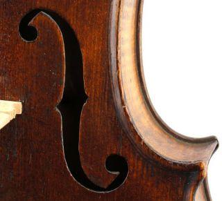 Excellent Antique German Violin By Friedrich August Glass C.  1860 - photo