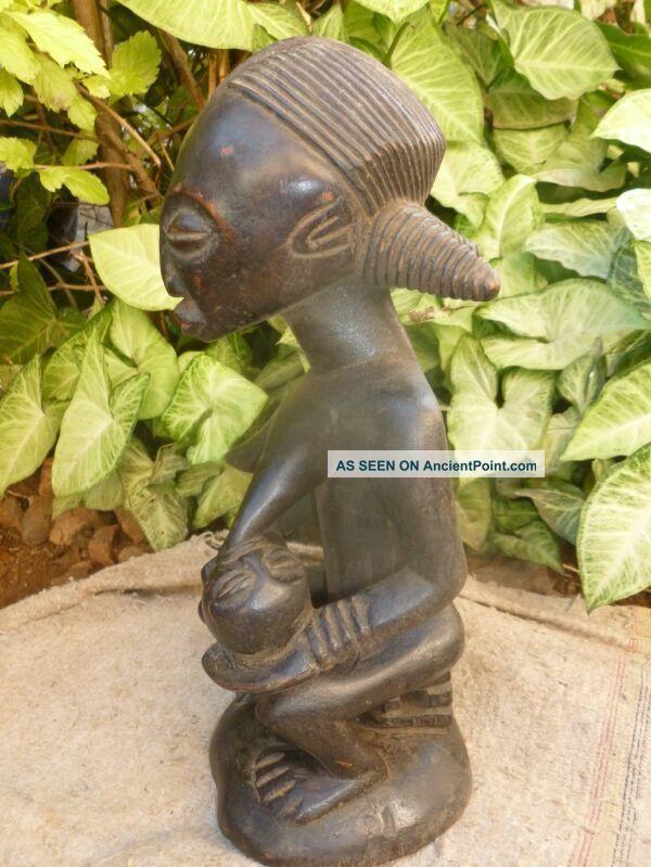 Maternity Ruba Figure Wood African Ruba Maternite Statues Art Tribe 35cm By 14cm Other photo