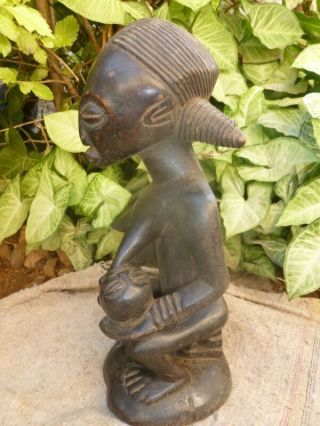 Maternity Ruba Figure Wood African Ruba Maternite Statues Art Tribe 35cm By 14cm photo