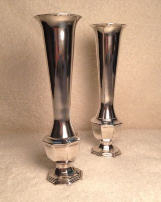 Antique Coronet Silverplate Ep Lead 1891 Candle Stick Taper Holders 6
