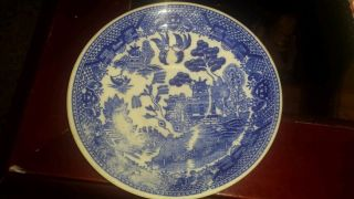 Antique Japan Authentic 19th Century Blue And White Export Porcelain 6in Plate photo
