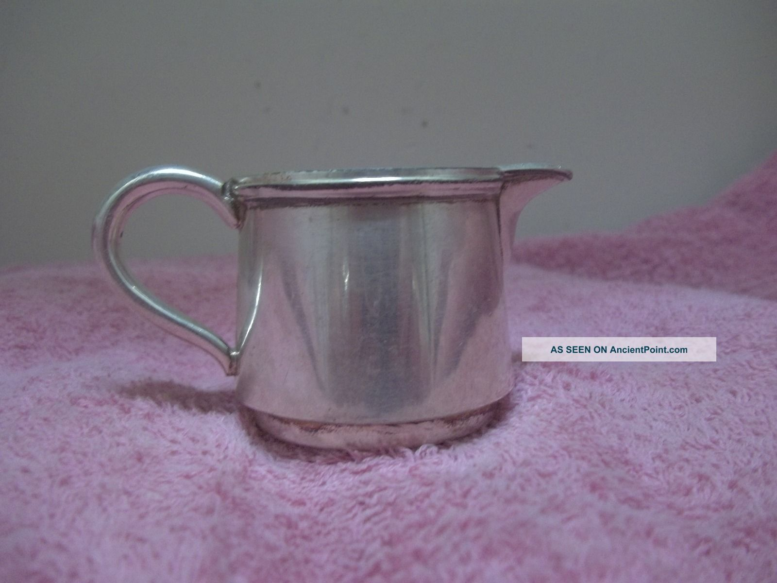 Vintage 16 Silverplate On Copper Small Personal Size Creamer Creamers & Sugar Bowls photo