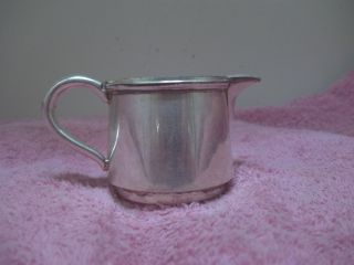 Vintage 16 Silverplate On Copper Small Personal Size Creamer photo
