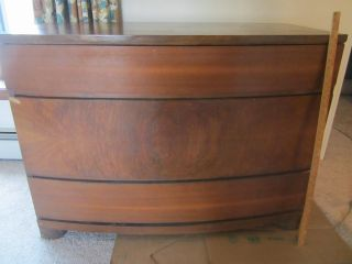 Antique Bow - Faced Chest Of Drawers photo