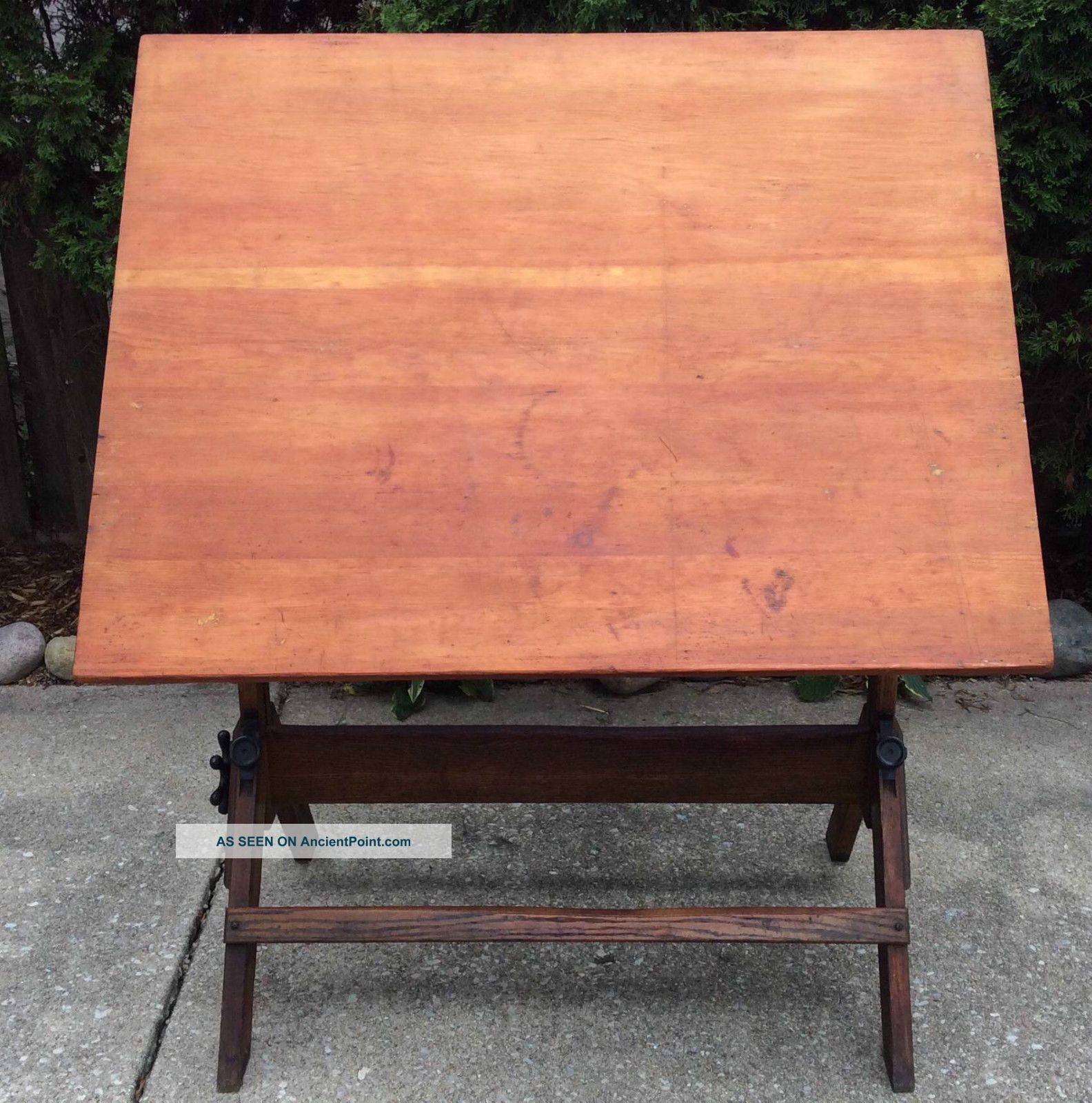 Amazing photo of  1930s Hamilton Economy Oak Maple 4 Ft. Drafting Table 1900 1950 photo with #BC520F color and 1584x1600 pixels