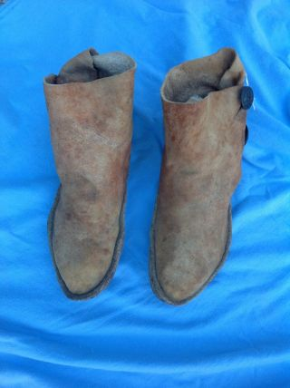 Navajo Indian Moccasins,  Found In Santa Fe,  New Mexico photo