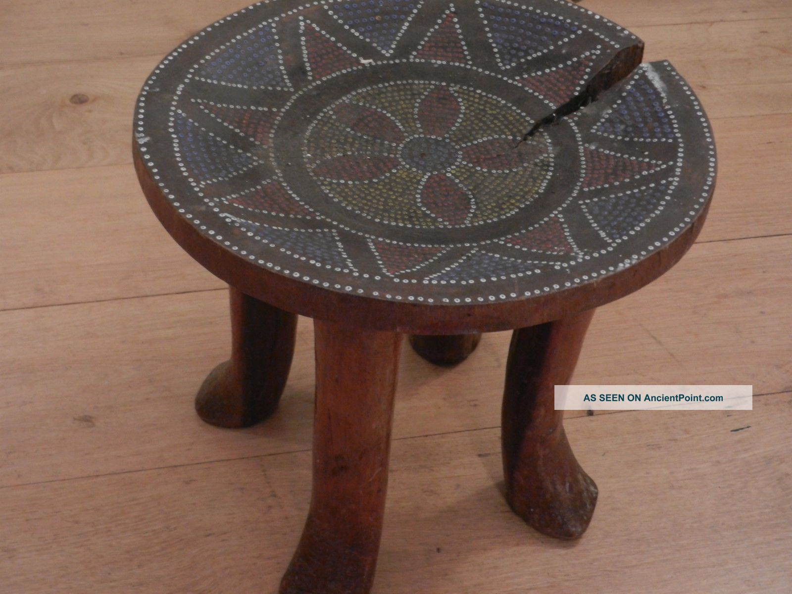 19th Century African (kamba) Stool With Inlayed Bead Work Other photo