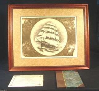 Peter Vincent With All Possible Sails Set Signed Limited Copperplate Etching photo