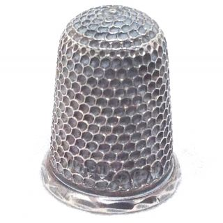 Vintage Sterling Silver Thimble Ch Charles Horner Chester England Hallmarked 3gr photo