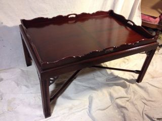 Coffee Table Solid Mahogany,  Banded C12pix4size.  Ship By Greyhound $99,  Make Offer photo
