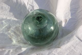 Vintage Japanese Glass Fishing Float With Maker ' S Mark photo