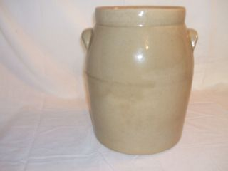 Old Yellow Pottery Crock - Excellent photo