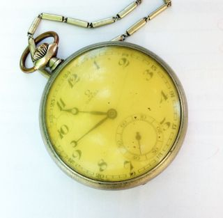Very Rare Old Vintage Swiss Made Omega 1939 Pocket Watch photo