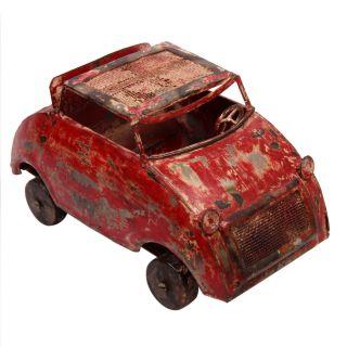 Vintage Rare Tin Iron Metal Unique Wind Up Antique Car Tin Kids Toys photo