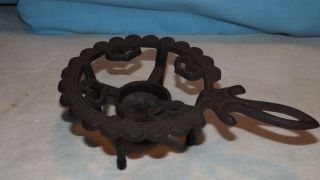 Wilton Cast Iron Trivet With Candle Holder photo