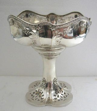 A Stunning Art Nouveau - Antique Jugendstil German Solid Silver Center Piece photo