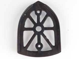 Antique Cast Iron Sad Iron Trivet Stand Holder Footed photo