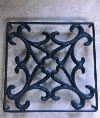 Antique Cast Iron Burner Cover Grate photo