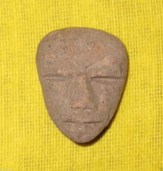 Little Head Of Clay From Teotihuacan. photo