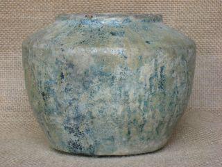 Ancient Chinese Han Dynasty Green Glaze Three - Footed Pot,  C.  206 Bc – 220 Ad photo