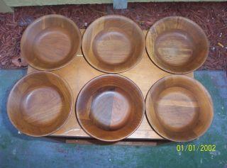 Kustom Kraft Solid Black Walnut Wood Salad Bowl - 12