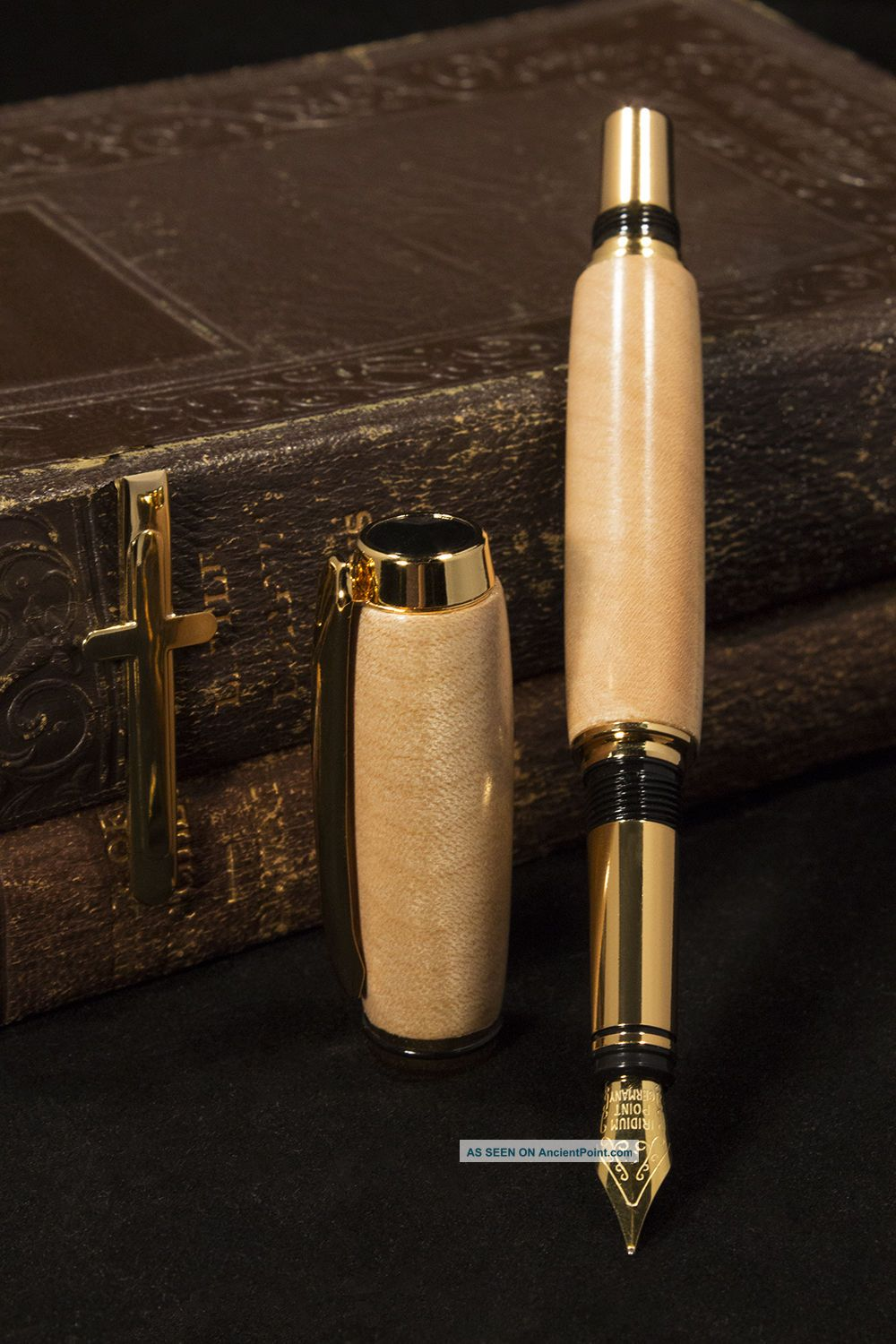 Antique (1697) Authenticated St Mary ' S Church,  Whitby,  England - Fountain Pen Uncategorized photo