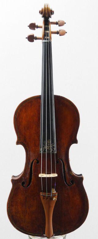 Very Rare,  Antique Decorated Italian Fine Old 4/4 Violin photo
