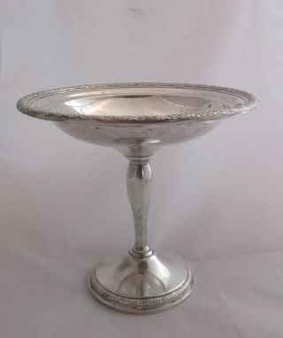Vintage International Sterling Silver Prelude Pedestal Compote Candy Dish photo