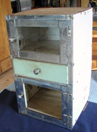Vintage Early 1900 ' S Barber Shop Cabinet Chrome,  Glass & Wood T.  Noonan,  Boston photo