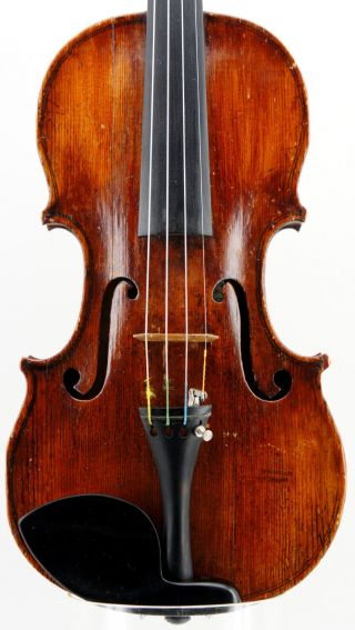 Very Interesting,  Old,  Unlabeled Antique 18th Century Violin,  Ready - To - P