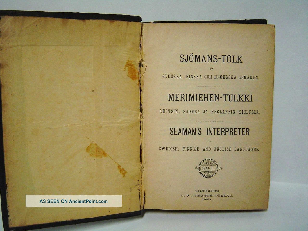 1880 Seaman ' S Interpreter - Swedish Finnish English By Oppman