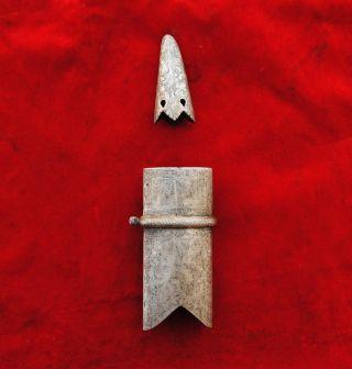 Indo Persian Mughal Islamic Shamshir Sword Scabbard Chape Locket Karabela Kilij photo