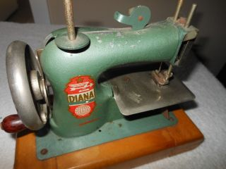 Antique Toy Diana German Sewing Machine Germany Schuphoff Metal Hand Crank photo