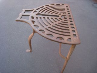 Antique Wrought Iron Fireplace Trivet Stand For Cooking photo