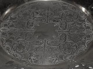 Wm A Rogers Silver Plate Copper Candy Dish 7