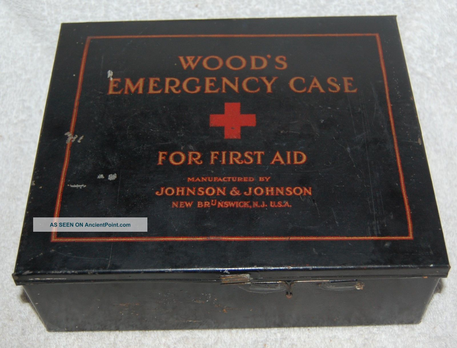 1925 Wood ' S Emergency Case With Partial Orginal Contents Medical First Aid Other photo