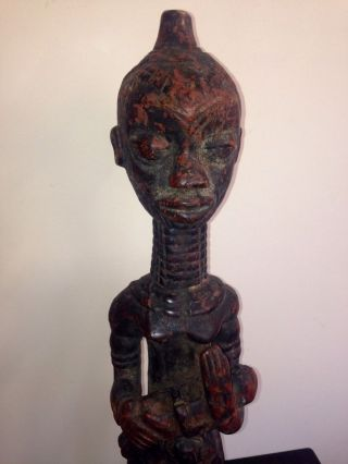 A Magnificent Early - Mid 20th.  C Bene Lulua Maternity Figure,  Drc. photo