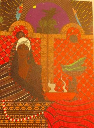 Vintage Oricha Oba / Obba Nani Greetings Card Santeria Lukumi Yoruba Orisha photo