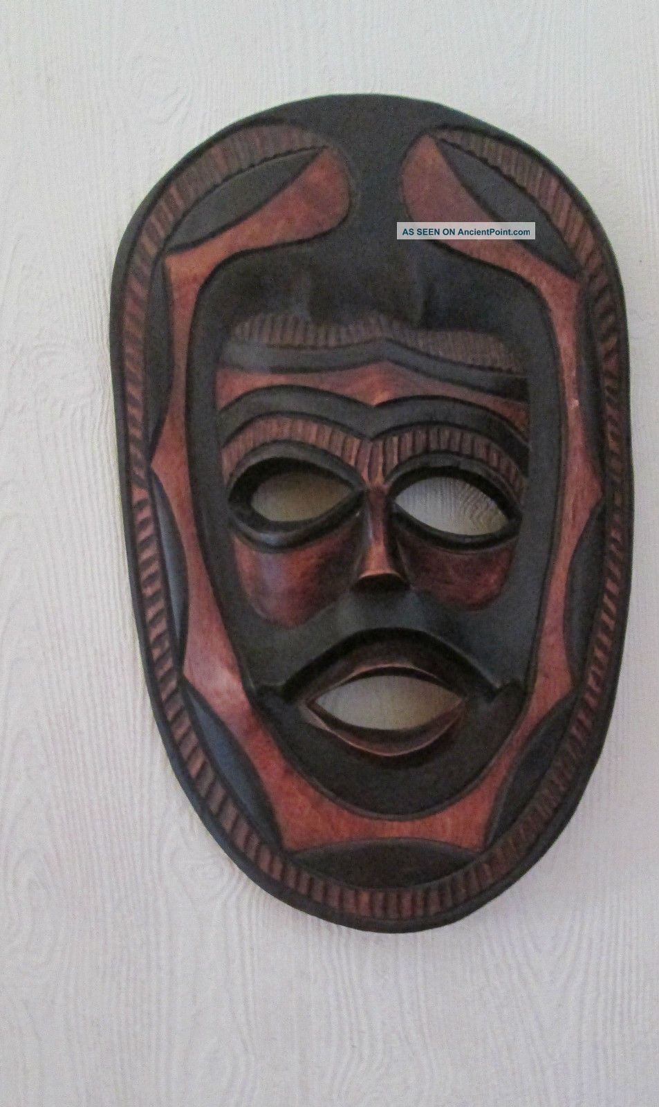 Vintage Large African Hand Carved And Decorated Wooden Mask Other photo