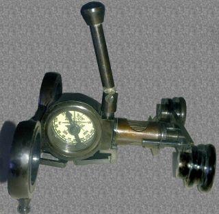 Brass Monocular W/handle - Compass Pocket Binocular Vintage Replica Gift photo