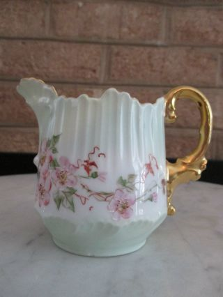 Antique Creamer Unmarked Leonard Vienna Austria Floral Decor 20c Out Of Estate photo