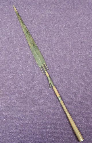 African Or South American Antique Forged Spear Tip 2 photo