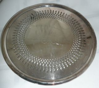 Vintage Newport Silverplate Trivet Yb11 photo
