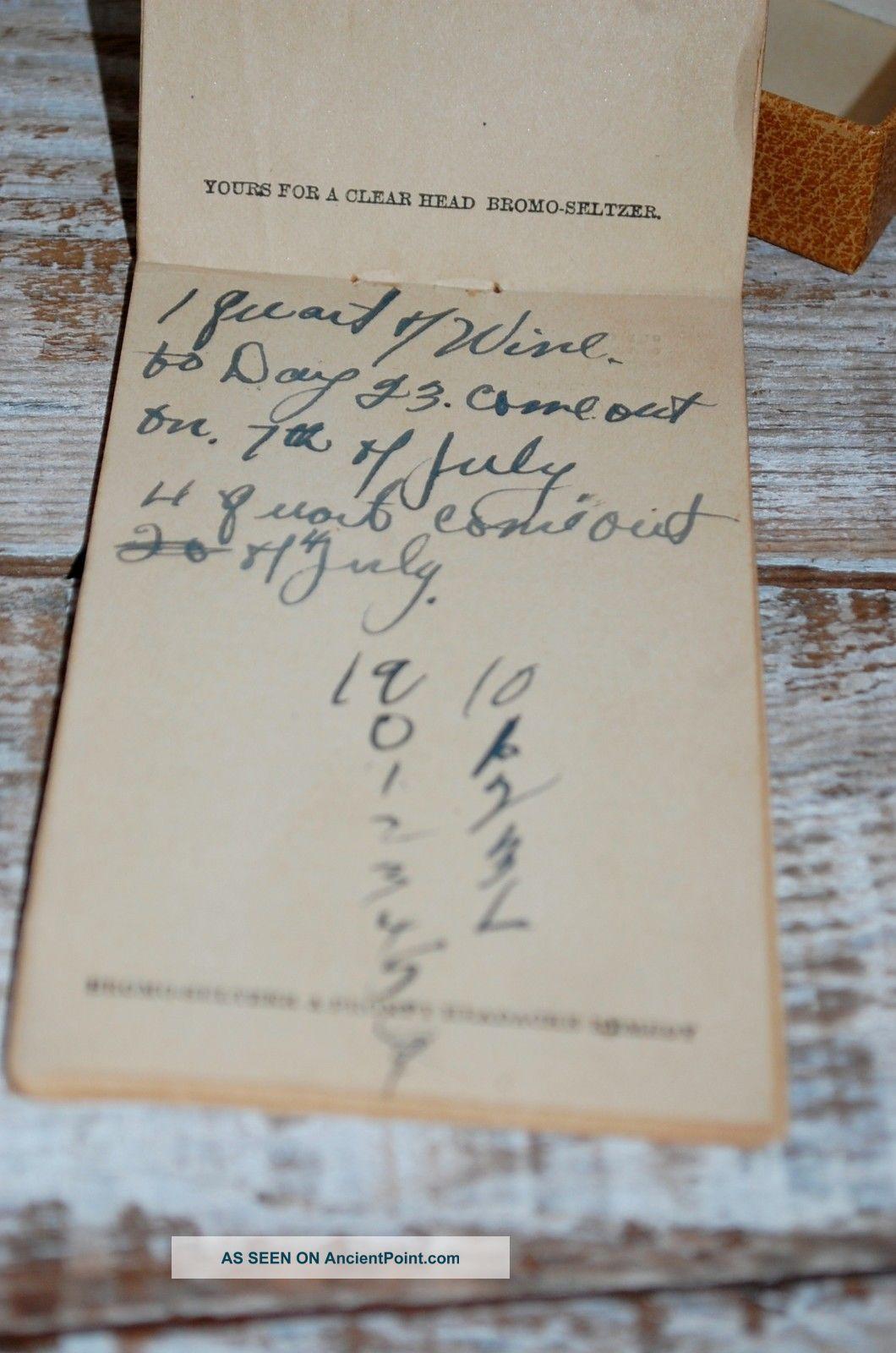 Historical Handwritten Prohibition Era Notes Pennsylvania 1920 ' S Rare Item Other photo