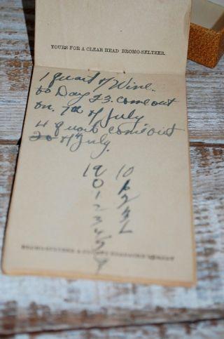 Historical Handwritten Prohibition Era Notes Pennsylvania 1920 ' S Rare Item photo